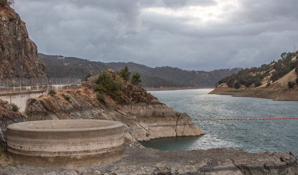 this picture shows Lake Berryessa